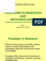 2-General Stages in Research Conducts (and Research Paradigms)