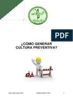 Como Genera lCultura Preventiva