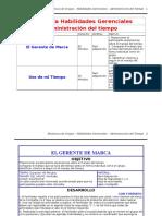 Dinamicas - Habilidades Gerenciales - Administración Del Tiempo