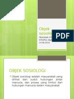 RONDE II..Objek Sosiologi