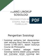 Ruang Lingkup Sosiologi