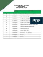 Jadual Aktiviti Tahunan Bola Jaring 2014