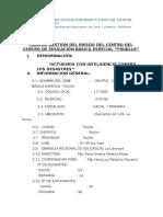 Plan de Gestión Del Riesgos de Desastres Okok -2016