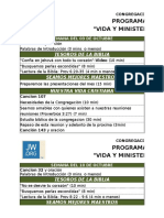 Programa Vida y Ministerio Octubre 2016