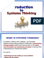 Systems Thinking - Intro