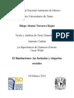 02-04-16 IMPORTANCIA de LLAMARSE ERNESTO El Bunburismo Fachadas y Etiquetas Sociales