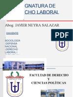 Principios del Derecho del Trabajo - Parte I