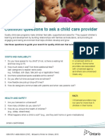 Questions to Ask a Child Care Provider