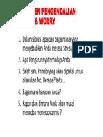 Komitmen Pengendalian Stress & Worry