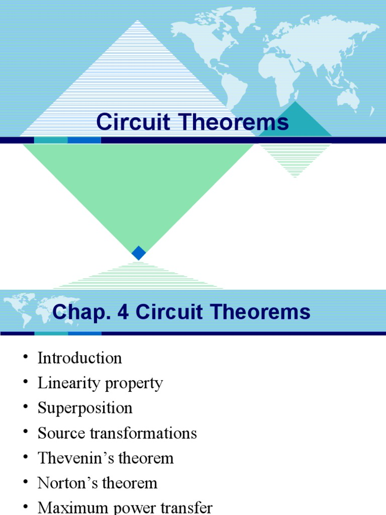 Chap4 Circuit Theorems Electrical Network Series And Parallel Example Solved Problems Based On Thevenin Theorem Circuits