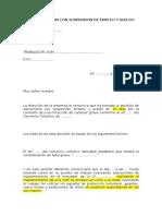 Carta Sancion Con Suspension de Empleo y Sueldo