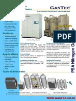 GasTec FD Series Nitrogen Brochure (2013)
