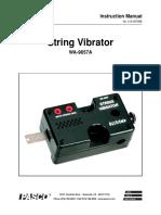 String Vibrator Manual WA 9857A