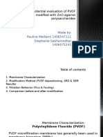 Anti-fouling Potential Evaluation of PVDF Membranes Modified With ZnO Against Polysaccharides