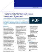 Thailand ASEAN Comprehensive Investment Agreement 6031282