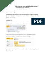 Respaldar Información en Outlook
