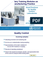 WHO- Good Practices for Quality Control Laboratories. Part 3