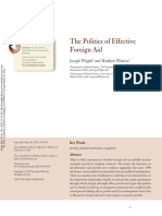 Annual Review of Political Science Volume 13 issue 1 2010 [doi 10.1146%2Fannurev.polisci.032708.143524] Wright, Joseph; Winters, Matthew -- The Politics of Effective Foreign Aid.pdf