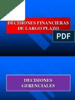 Fin 2 Decisiones Financieras de Largo Plazo