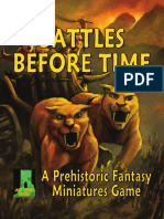 Battles Before Time - Rules - Part One