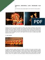 10 Tarian Tradisional Indonesia Yang Digemari Dan Terkenal Di Dunia