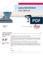 Leica Viva GS10 GS15 User Manual