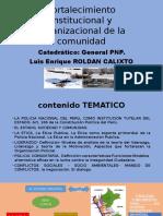 Fortalecimiento Institucional y Organizacional de La Comunidad