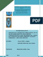 Trabajo de Informe Del Modulo I de Nixor Sanchez y Uvaldina Ualle