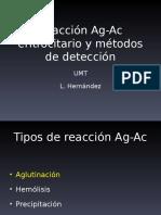 Reacción Ag Ac