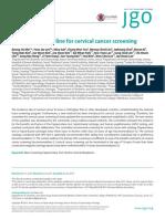 The Korean Guideline for Cervical Cancer Screening