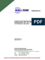 RLK 01_KAN Requirement for Calibration Laboratory