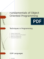 Fundamentals of Object Oriented Programming2