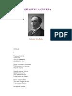 Machado, Antonio - Poesias de Guerra