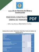 1. Construccion de Obra de Infraestructura Vial