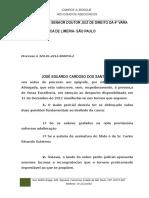 Manifestação Perícia José Eduardo x Carlos Eduardo Gutierrez - 320.01.2012.006050-2