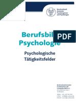 Berufsbild Psychologie