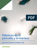 Plásticos en el pescado y el marisco