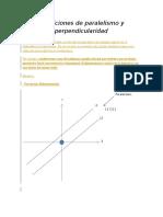 Condiciones de Paralelismo y Perpendicularidad 1