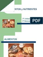 Nutrientes Quinto Basico