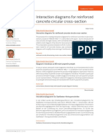 Interaction diagrams for reinforced concrete circular cross-section