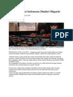Demokrasi Indonesia Dinilai Oligarki