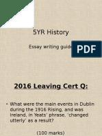 5yr history essay writing