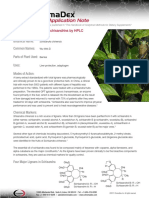Schisandra Application note