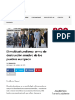 El Multiculturalismo_ Arma de Destrucción Masiva de Los Pueblos Europeos - LA GACETA