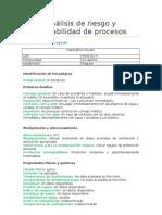 Análisis de Riesgo de Operabilidad para una Planta productora de SAKE