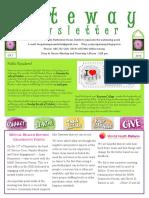 Gateway Newsletter October 2016