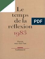 Starobinski, Le Mot Civilisation (1983)