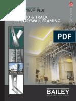 Bailey Platinum Plus Steel Stud Track for Drywall Framing