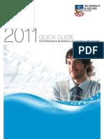 2011 Business & Economics Postgraduate Quick Guide