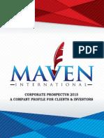Corporate Profile - Maven International - 2015